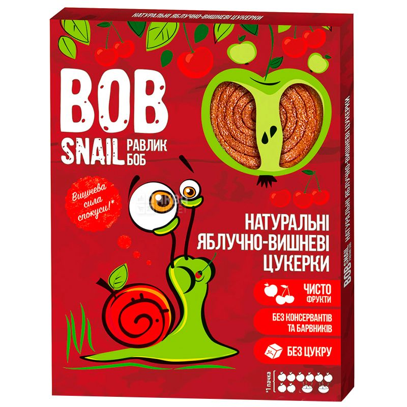 Bob Snail, 120г, Пастила, Яблочно-вишнёвая, Картонная коробка