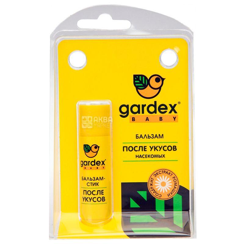 Gardex Baby, 7 мл, Бальзам-стік після укусів, З екстрактом ромашки