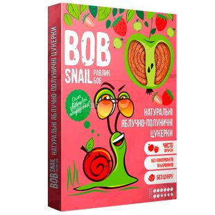 Bob Snail, 120g, Pastila, Apple-strawberry, Cardboard box