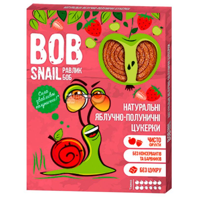 Bob Snail, 120g, Pastila, Apple-strawberry, Cardboard box
