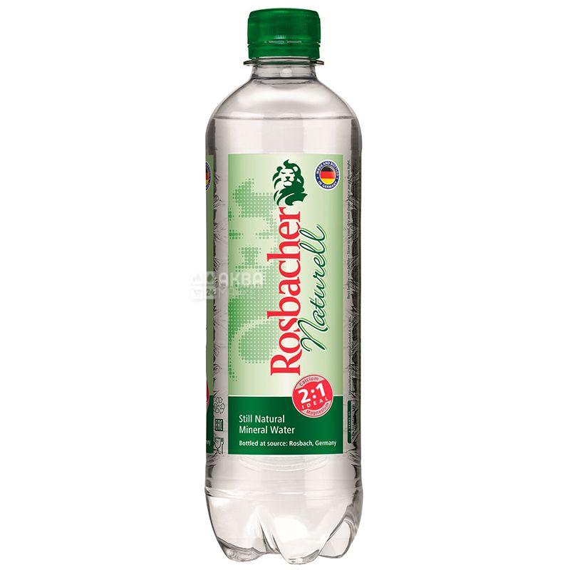 Rosbacher Naturell, Вода мінеральна негазована, 0,5 л, ПЕТ, ПЕТ