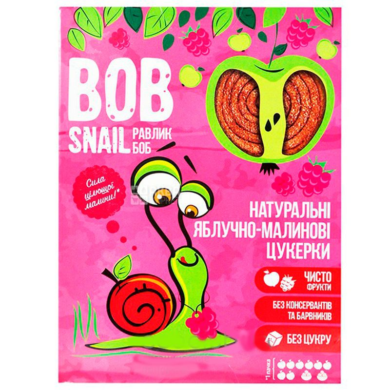 Bob Snail, 120г, Пастила, Яблочно-малиновая, Картонная коробка