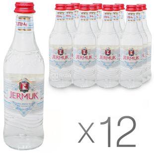 Джермук Маунтин, Упаковка 12 шт. по 0,33 л, Вода негазированная, Стекло