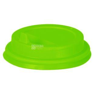 Кришка для одноразового стакана 400 мл, зелена,  50 шт, D90
