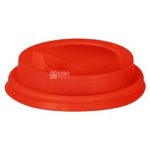 Кришка для одноразового стакану червона 180 мл 50 шт.