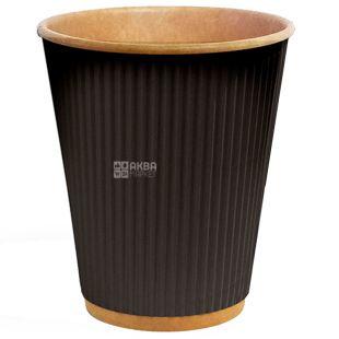 Craft Glass paper corrugated black 110 ml, 25 pcs, D60