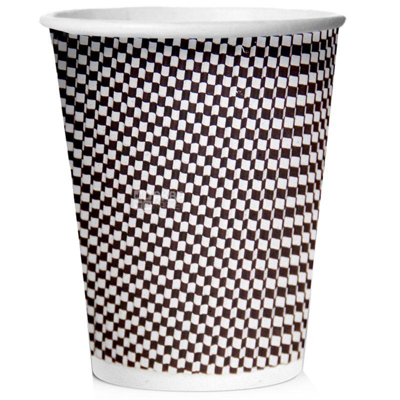 Меланж Стакан бумажный гофрированный 110 мл, 25 шт, D60