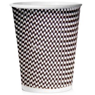 Склянка паперова гофрована Меланж 250мл 25 шт