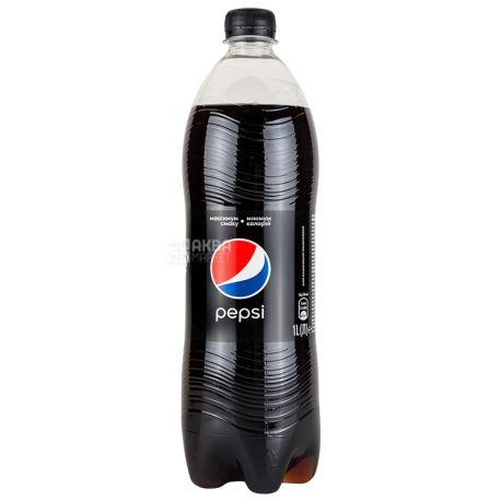 Pepsi-Cola, Black, 1 л, Пепси-Кола, Блэк, Вода сладкая, низкокалорийная, ПЭТ