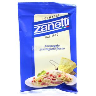 Zanetti Fresh grated cheese, 100 г, Сыр Тертый, в / у
