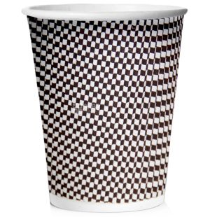 Склянка паперова гофрована Меланж 400мл 25 шт