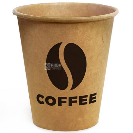 Coffee Kraft Glass paper 180 ml, 50 pcs, D71