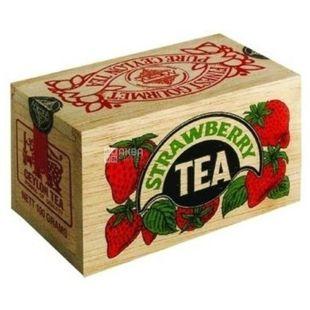 Mlesna, Strawberry, 100 г, Чай Млесна, чорний з полуницею, д/к