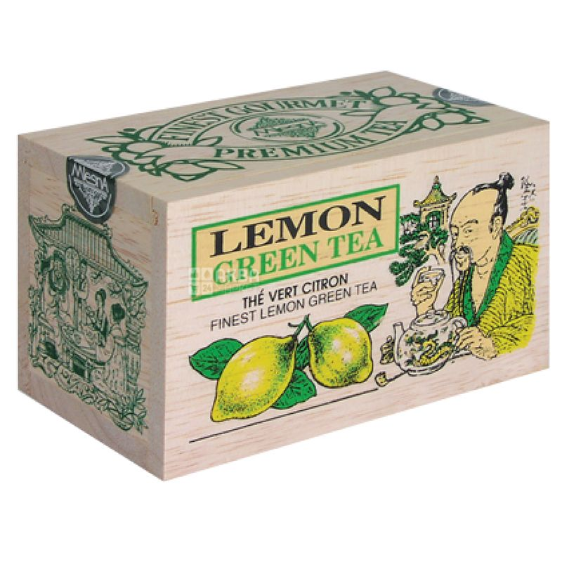 Mlesna, Lemon, 100 г, Чай Млесна, Лимон, зелений, д/к