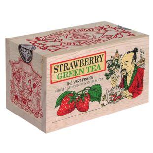 Mlesna, Strawberry, 100 г, Чай Млесна, Полуниця, зелений, д/к