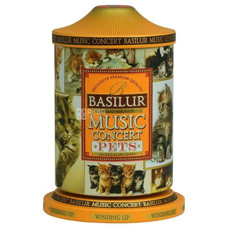 Basilur, Music Concert, Pets, 100 м, Чай Базілур, Музична скринька, Улюбленці, Чорний з добавками, ж/б