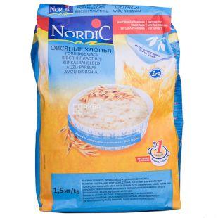 Nordic, 1,5 кг, Пластівці Нордік, вівсяні, швидкого приготування