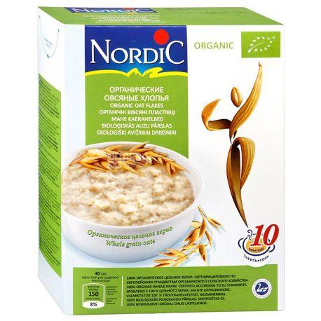 Nordic, 600 г, Хлопья Нордик, овсяные, органические