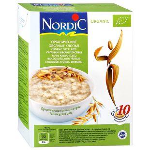 Nordic, 600 г, Пластівці Нордік, вівсяні, органічні