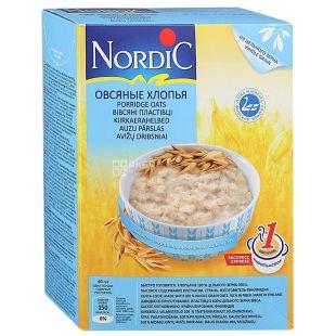 Nordic, 500 г, Хлопья овсяные, Быстрого приготовления, картон