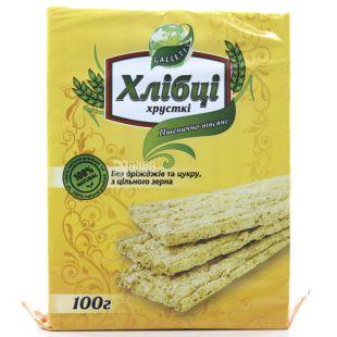 Galleti,100 г, Хлебцы пшенично-овсяные