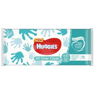 Huggies, 56\12 шт., Детские салфетки, Влажные