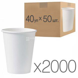 Стакан паперовий білий 180 мл, 50 шт., 40 упаковок, D69