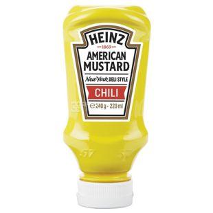 Heinz, 220 мл, Гірчиця, Американська, Чилі