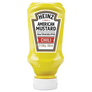 Heinz, 220 мл, Горчица, Американская, Чили