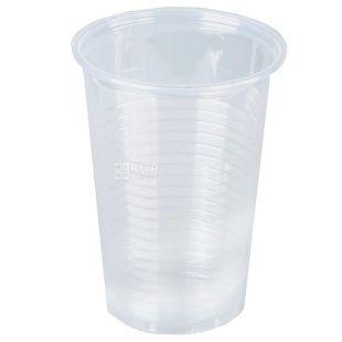 Стакан пластиковий прозорий 180 мл, 100 шт., 30 упаковок