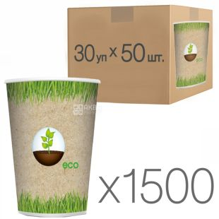 Eco Glass paper with a pattern of 250 ml, 50 pcs., 30 packs, D80