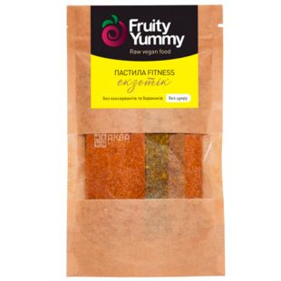 Fruity Yummy, 40 g, Pastila assorted Exotic, without sugar, m / s