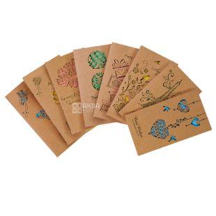 Открытка картонная с конвертом, 1 шт., ТМ AIHAO