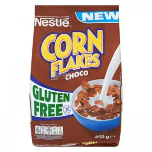 Nestle Corn Flafes, Ready breakfast with cocoa, 450 g, m / s