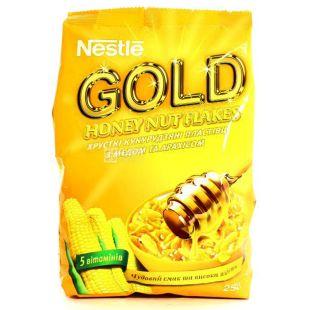 Nestle, 250 г, Сухий сніданок, Gold Flakes, Мед і горіхи