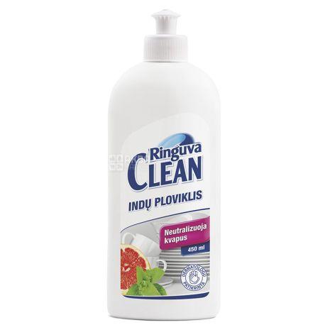 Ringuva Clean, Средство для мытья посуды, грейпфрут и мята, 500 мл