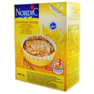Nordic, 600 г, Хлопья пшеничные, Быстрого приготовления, картон