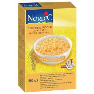 Nordic, 500 г, Пластівці Нордік, пшоняні, швидкого приготування