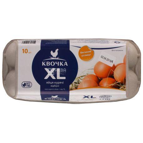 Квочка, упаковка 10 шт., Яйца куриные, XL, Высшей категории