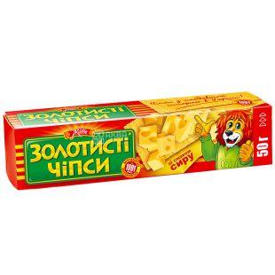 Золотистые чипсы, 50 г, Сыр, М/ у