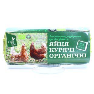 Мир Био, упаковка 10 шт, Яйца куриные, Органические, С1