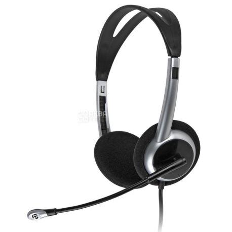 GEMIX, Гарнітура, HP-260MV, Black-Silver