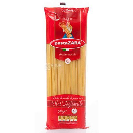 Pasta Zara Flat Tagliatelle №13, 500 г, Макарони Локшина плоска Паста Зара Флет Тальятелле