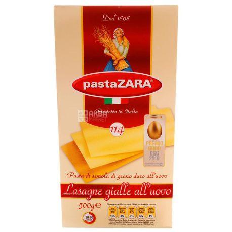 Pasta Zara, 500 g, Pasta, Lasagna, Egg, cardboard