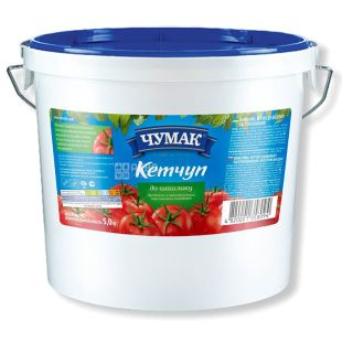 Chumak, 5 kg, Ketchup, Tomato, To kebab, plastic bucket