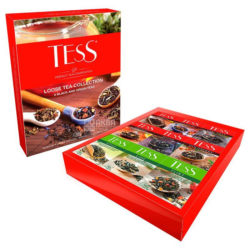 Tess, Ассорти, 9 х 40 г,  Чай Тесс, Набор листового чая