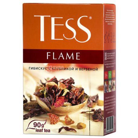 Tess Flame, 90 г, Чай Тесс, Флейм, трав'яний, гібіскус з полуницею, вербеною