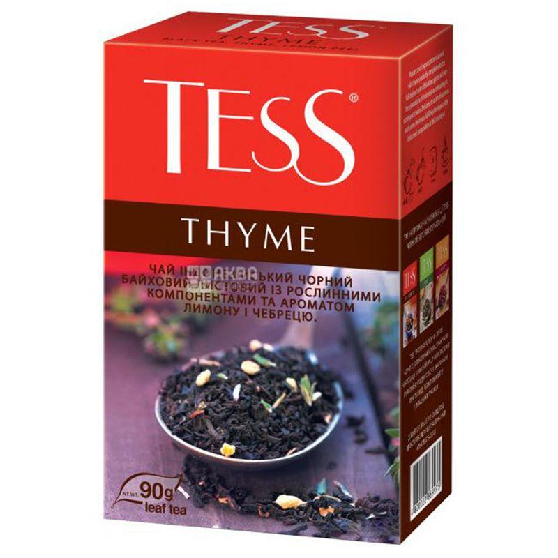 Tess, Thyme, 90 г,  Чай Тесс, Тис, черный  с ароматом лимона и тимьяна, м/у