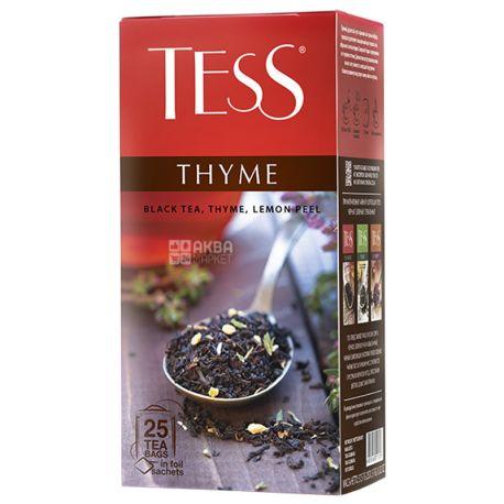 Tess Thyme, 25 пак., Чай Тесс, чорний, лимон і чебрець