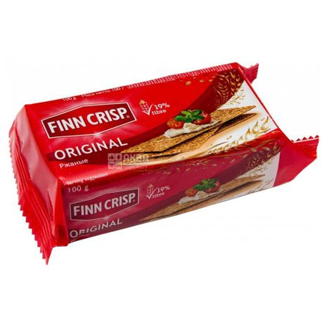 Finn Crisp Original, Хлебцы ржаные, 100 г